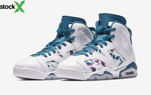 Женская 6 6s Зеленая Бездна Jordon баскетбольная обувь код стиля 543390S-153 высокое качество VI GS спортивная обувь на открытом воздухе размер EU36--40 с оригиналом