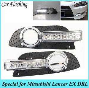 자동차 깜박임 1 세트에 대한 미쓰비시 랜서 EX 2009 2010 2011 2012 2013 2014 LED DRL 낮 실행 조명 일광 안개 헤드 램프