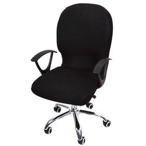 Seat Covers Elastic Spandex Cadeira de Escritório de cobertura para cadeiras de computador estiramento Rotating Presidente Covering Computer Desk assento Slipcover