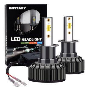 Infitary 2PCS H3 Super Bright Car Luces LED Linterna tricolor de LED
