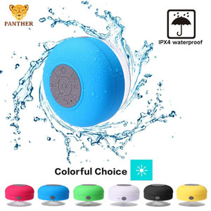 미니 방수 방진 IPX4 스피커 무선 블루투스 휴대용 스피커 핸즈프리 통화가 흡입 컵 스피커를 6 색 샤워 수신