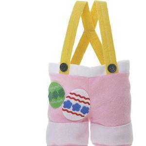 Pâques Sac cadeau de lapin Queue-Pants comme Pâques Candy Bag Pâques Pantalon de type non-tissé Sac Trois Couleurs EEA1056-4