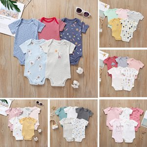 2020 Mamas Papas2020 Bebek Tulum Yaz Short Sleeve Çocuk Fart Romper Suit Sınır Ötesi Giyim Genel