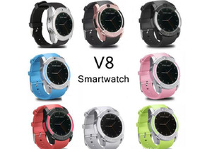 Reloj elegante reloj de pulsera V8 bandas con 0.3M de la cámara SIM IPS HD Full Circle Smart Display reloj para el sistema androide con la caja