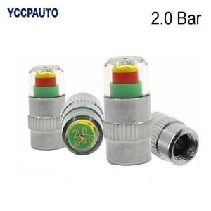 YCCPAUTO coche 2.0 bar 30 psi de presión de neumático auto Monitor de Tapas de Válvulas Alerta Indicador del sensor de ojos de diagnóstico Kits de Herramientas 4pcs