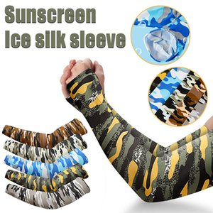 Summer Camouflage Ice Sleeve Cuffs Outdoor Riding Fishing Sun Protection Arm Sleeve for Men and Women Protection Sleeve IIA230