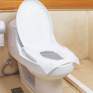 10pcs / set Toilet Seat Sedili Viaggi monouso toilette copertura stuoia della toletta Carta impermeabile Pad Covers biodegradabile monouso sanitaria