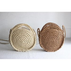 25x23CM 2020 New Crochet Round Bag Female Summer Straw Bag Holiday a5440
