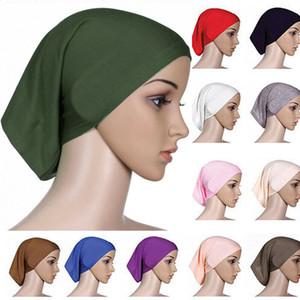 2019 más nuevas mujeres islámicas musulmanes bufanda principal Algodón underscarf Hijab cubierta Turbante bonete plano Hijabs