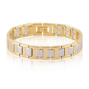 New popular jewelry magnet Two-color trinkets Contracted fashion Personality magnetic therapy health bracelet