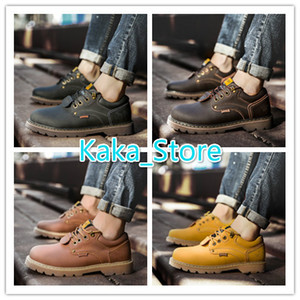 2020 New Style Fashion Men Leather Boots New Style Casual Shoes Outdoor Travel Martin Boots Size 38-44 AK5808