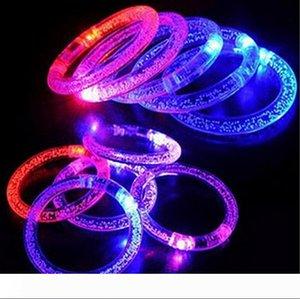 Wholesale light up toys Led flashing blinking bracelet Hand Ring Bracelets for party decoration for free ship
