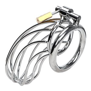Device Stainless Sex Steel Cock Cage Lockable Toys Adult Cock Men Chastity Games Ring Sleeve Lock Male Penis For Nevmt