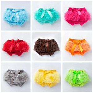 Baby Girls Shorts Kids Lace Bowknot PP Pants Girl Casual Triangle Bread Pants Infant Summer Cotton Breathable Bloomers Underpants AYP692