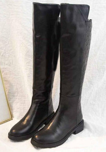Fashion Brand Womens Knee Boots Zip Martin Boot Cowboy Ladies Winter Snow Long Cool Booties SZ35-40