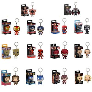Funko Pop Keychain Die Rächer Action-Figuren Anime Collection Puppe Kinder Spielzeug Film Anime Schlüsselanhänger Schlüsselanhänger Kid Toy 100 + Design lol