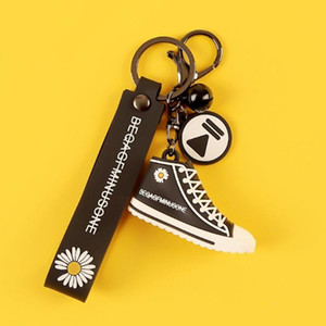 Frete grátis New Style pequena margarida Shoes Keychain 2020 alarme Urso Tiger criativas práticas pequenos presentes de jóias pequeno chaveiros