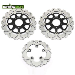 BIKINGBOY For GSX-R 1000 03 04 2003 K4 GSXR 600 750 2004 2005 05 K5 Front Rear Brake Discs Disks Rotors Full Set Motor