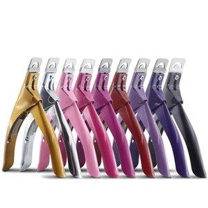 Alta Qualidade Cuticle Tesoura de aço inoxidável U Shaped Falso Nail Opção Clipper Manicure aparamento cortador 9 Cor 1 8XJ E19