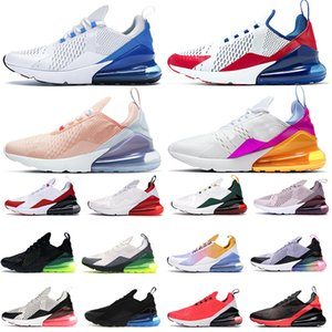 2019 nike air max airmax 270 27c scarpe da corsa da uomo allevate Volt Black Gradient hot punch Regency Purple foto blue SE Chaussures floreali desinger sneaker trainer 36-45