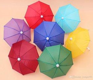 Mini Simulation Regenschirm für Kinder Spielzeug Cartoon Viele Farbe Regenschirme dekorative Fotografie Props Tragbares und Licht 100pcs geben Schiff frei