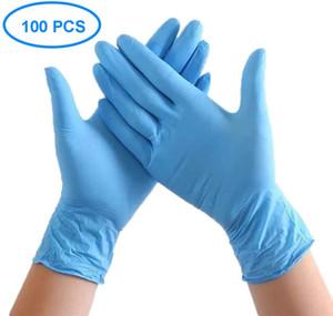 Monouso in nitrile guanti di nitrile senza polvere di gomma lattice Guanto non sterile Ininfluente confortevole gomma industriale veloce DHL