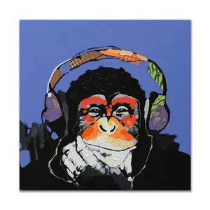 Decorado Imagem Abstrata Pintura Da Arte na Lona Pintados À Mão Pintura A Óleo Chimpanzé King Kong para Sofá Decoração Da Parede [Unframed]