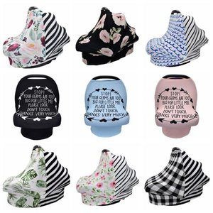 Nursing Cover Newborn Breastfeeding Scarf Letter Striped Feeding Covers Shawl Toddler Car Seat Stroller Canopy Tools 9 Designs DW5156