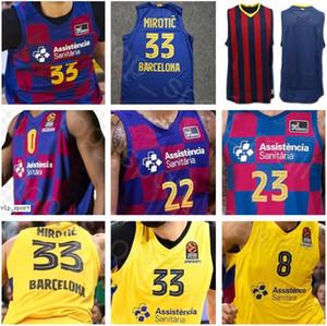 Camisa del baloncesto de Lassa 33 Nikola Mirotic jerseys Hombre 22 Cory Higgins 0 Brandon Davies 8 Adam Hanga Malcolm Delaney Kyle Kuric Thomas Heurtel