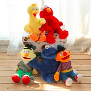 HOT Plush Sesame Street Kaws brinquedos BFF conjuntamente pelúcia recheado brinquedos Edição PP Cotton Boneca como o Presentes para Crianças