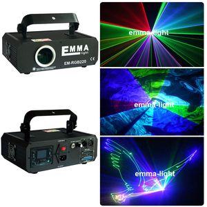 discoteca efectos de DJ del club nocturno brillante de luz láser RGB a todo color rojo azul verde 500mw