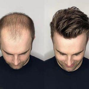 Le plus récent hommes perruque suisse Super Fine dentelle hommes Toupee 8x10 pouces Brésilien cheveux humains prosthétique Homme Perruques Livraison gratuite