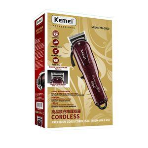 KEMEI 2600 Professional Electric Hair Trimmer Beard Shaver 100-240V Rechargeable Hair Clipper Titanium Knife Hair Cutting Machine KM-2600