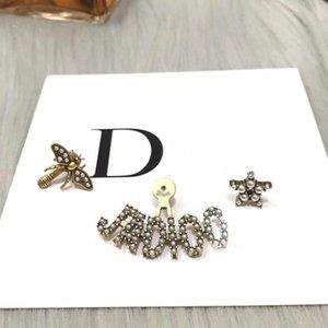 Мода игла асимметричного звезда пчелиной серьга посеребренный деликатных жемчужные дамы личность роскошь дизайнер ювелирные женщины серьга