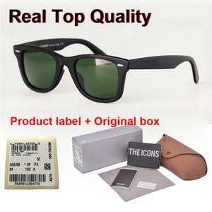 Vakalar ve kutusu Lens UV400 Daha Kaliteli Polarize Güneş Gözlüğü Erkekler Kadınlar marka Gözlük Güneş Gözlükleri 50 / 54mm tahta çerçeve Metal menteşe
