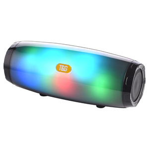 TG165 portable wireless bluetooth speaker led flash music mp3 player super bass waterproof subwoofer SD card player with mic 1200mah