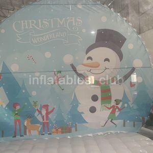 Schnee frei frei Pumpe Aufblasbare Globen Globe für aufblasbaren Schnee Menschlicher Weihnachten Transparent Globe Yard Weihnachten Versand Jtnnl