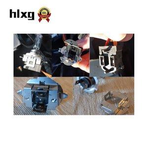 Titular HLXG 2PCS farol do carro H7 LED soquete adaptador Auto lâmpada Base de metal grampo de retenção Acessórios Car