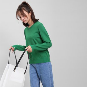 DMLFZMY Pure color sweater women 2019 autumn new women's coat long-sleeved Korean casual round neck shirt
