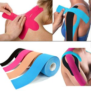 ports & Entertainment 5M Waterproof Breathable Cotton Kinesiology Tape Sports Elastic Roll Adhesive Muscle Bandage Pain Care Tape Knee El...