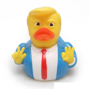9.3cm Baby Shower Swim Duck Toy Trump USA President Shaped Water Floating Toys Pvc Novelty Items Cjlidren Party Favor 8 8yn E1