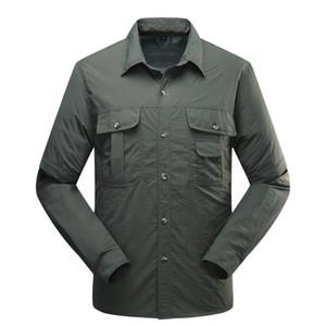 Ünlü erkek Gömlek Açık Marka Hızlı Kuruyan Gömlek Çıkarılabilir Yürüyüş T-shirt Taktik Gömlek Çekim Avcılık Tişörtlerin Çıkarılabilir Pantolon