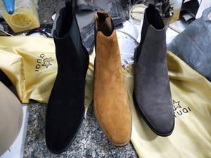 Новый список высокого качества ручной работы Kanye West сапоги глоток на высоком клине лодыжки WYATT сапоги JURDG Мужские платья свадебные ботинки