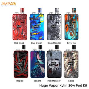 HUGO Vapor Kylin Kit 30W Built-in 1000mAh batteria ricaricabile con 3 ml Pod MTL Mesh Coil 100% originale