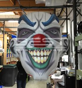 club uso partido inflável do cabeça de palhaço decoração de Halloween promocional inflável crânio palhaço cabeça de morte monstro diabo decoração de Halloween