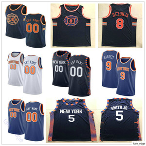 Printed Custom Basketball 9 R.J. Barrett Ignas Brazdeikis Dennis 5 Smith Jr Kevin 20 Knox II Allonzo 14 Trier Julius 30 Randle Jerseys