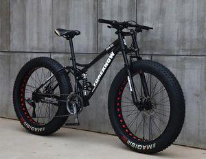De carbono mountain bike de aço com 26 polegadas de 27 velocidades velocidade variável off-road praia snowmobile adulto super grande 4.0 pneus grandes