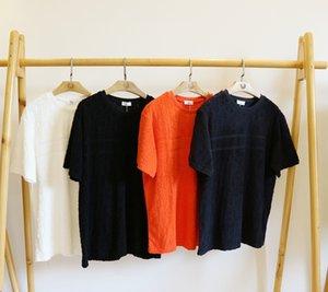 Роскошный дизайнер Мужчины Женщины рубашка топ Уличная мода мужская футболка с коротким рукавом бренд топ тройники мужские панельные уличная одежда Бесплатная доставка 2041610H