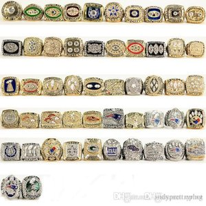 Hot Uphot Free Shipping 2019 hot HIGH QUALITY 52 pcs 1966-2017 SB FOOTBALL CHAMPIONSHIP Rings fans GIFT SET US SIZE 11# DHL FREE