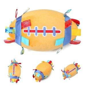 Jingle Bell Grab instruction de la Force Early Education Hand Ball Attraper Sports de plein air bébé en peluche Rugby Soft Entertainment en peluche